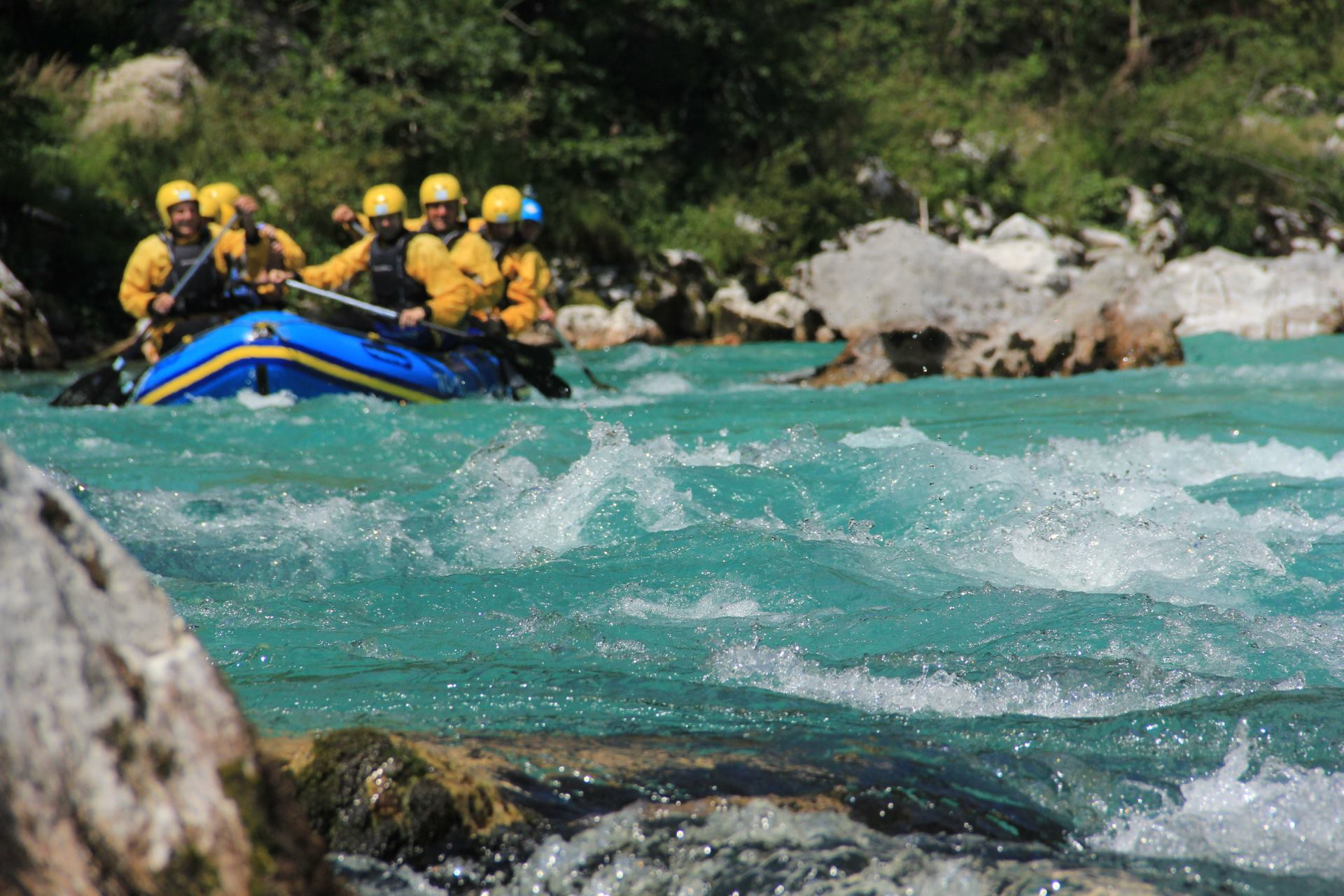 Contact for rafting on Soča